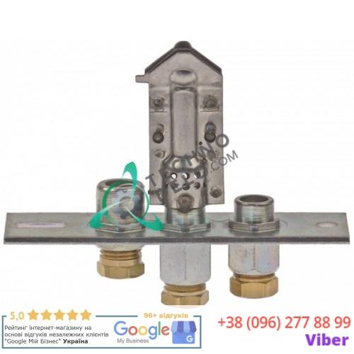 Горелка газовая Polidoro 27.2 3-х пламенная природный газ подключение 6мм  512120008 C10515 для Emmepi и др.