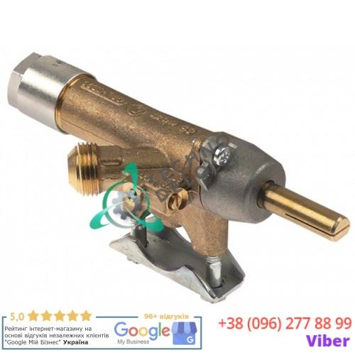 Кран газовый Copreci CAL-5200 ø21мм M16x1,25 M8x1 ось 8x6,5мм для гриля Tecno MCM 1EG/2EG/3EG/4EG/6EG и др.