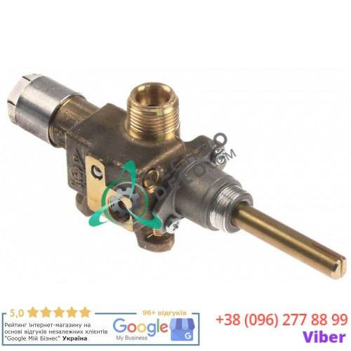 Кран газовый Copreci CPMM18700 ø21 мм 3/8 (трубка ø10мм) M8x1 M10x1 ось 8x6,5мм для жарочной поверхности Fagor