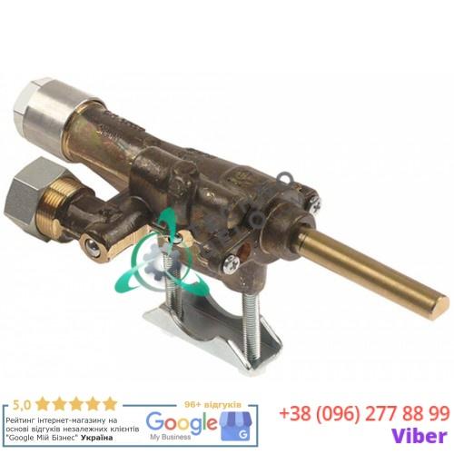 Кран газовый Copreci CAL-24200 ø21мм жиклёр 0,6 мм M17x1 M8x1 ось 8x6мм 537883000 600618 для оборудования Falcon