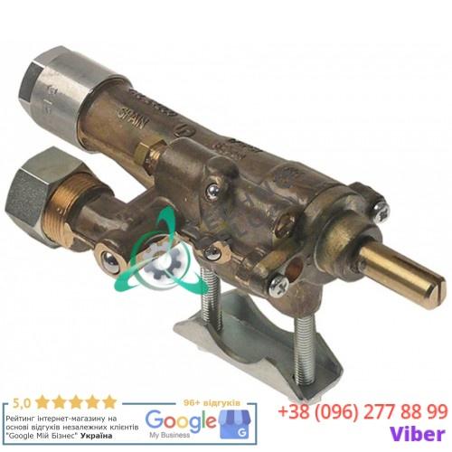 Кран газовый Copreci CAL-24200 ø21мм M17x1 M8x1 ось 8x6,5мм 539110320 600621 для теплового оборудования Falcon