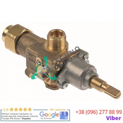 Кран газовый Copreci CAL-3200 ø21мм жиклёр 1мм 3/8 M8x1 1/8 ось 8x6,5мм 12009457 U912102 для макароноварок Fagor