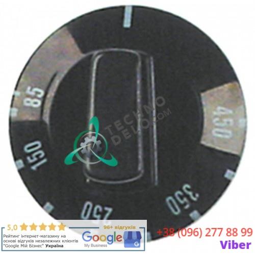 Рукоятка регулировочная ø49мм (деления 85-450°C) для термостата пицца-печи Cuppone, Fornitalia и др.