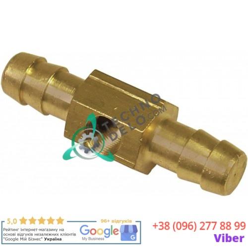 Соединитель шланговый ø0.6мм резьба 1/8 33Q5910 33Q5911 для манометра пароконвектомата Angelo Po FC101, FCV101 и др.