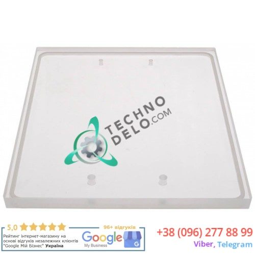 Крышка поликарбонат 0600100 378x315x20 мм подходит для вакуумного упаковщика Henkelman Jumbo Plus, Mini Jumbo