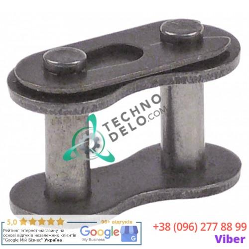 Звено цепи соединительное DIN/ISO 08 B-1 деление 1/2 23x11,8мм 91410641 для тестомесильной машины Cuppone