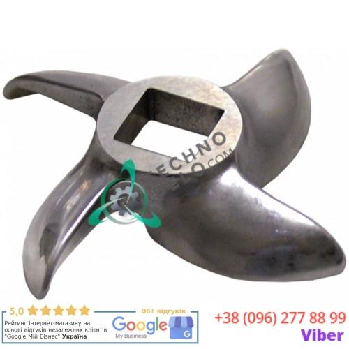 Нож мясорубки мод.12 Enterprise - Ø 62мм по окружности / внутр. размер 12x12мм нержавеющая сталь (100003)