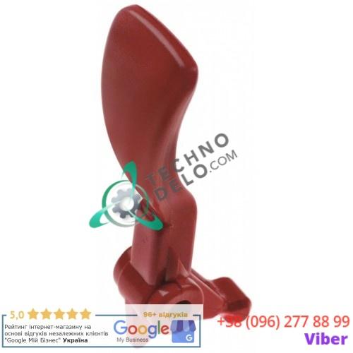 Рычаг крана (красный) L95мм 22700-01800 для шоколадницы/гранитора Ugolini, Bras