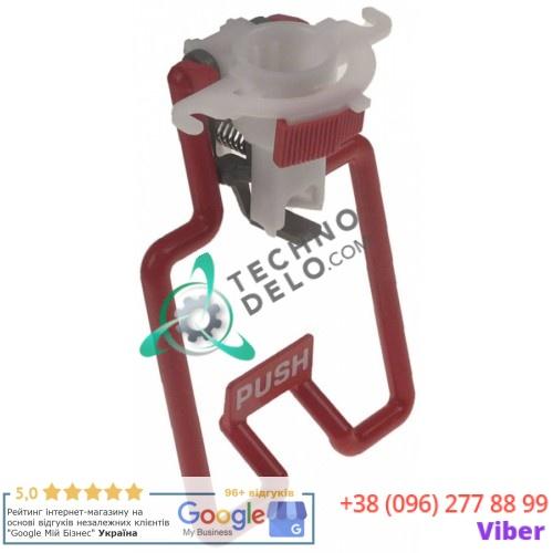 Кран для розлива 03800-00200 33800-00200 94x150мм красный рычаг дозатора напитков Ugolini HT 10-1, HT 10-2, HT UL 10-1 и др.