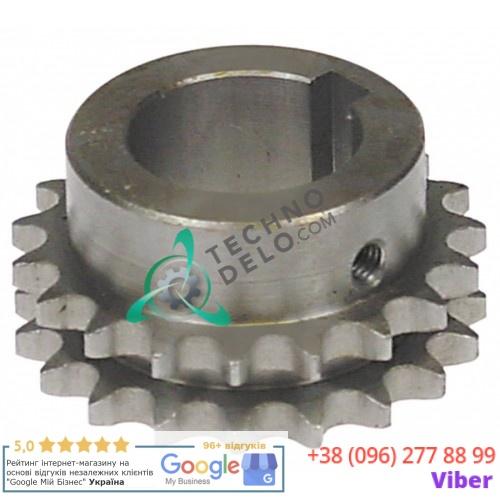 Звездочка цепная DIN/ISO 06 B-2 деление 3/8 19 зубьев 07NT40 для тестомеса Alimacchine NT40, NT50, NT70