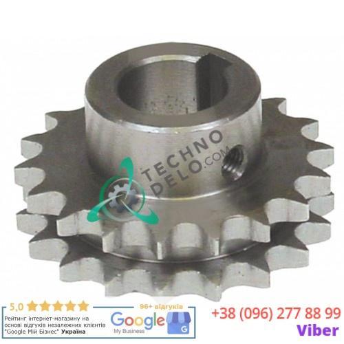 Звездочка цепная DIN/ISO 06 B-2 18 зубьев ø20мм H-30мм 03NT20 03NT30 тестомеса Alimacchine NT20, NT30