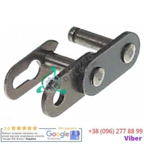 Звено соединительное цепи одинарный DIN/ISO 06 B-1 3/8 17,8x8,8мм 02NT05 SL1629 для тестомеса Alimacchine, Fimar и др.