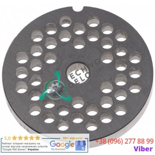 Решетка (Enterprise) для мясорубки mod. 12, ячейка 6мм /под горловину - Ø 70мм