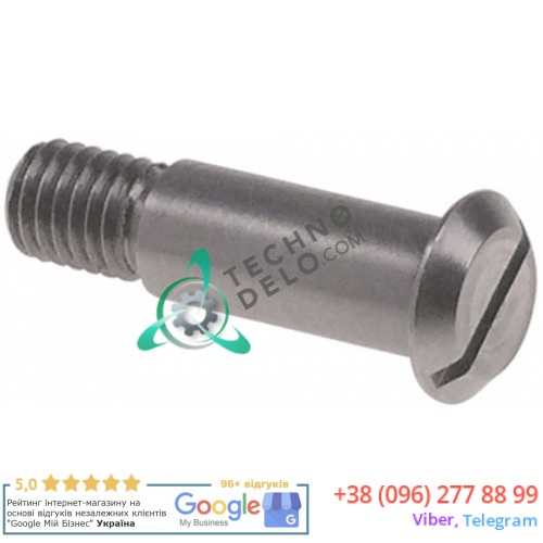 Винт фиксации 235.02604 ø9 мм длина 35 мм резьба M8x1,25 металл CNS для овощерезки Anliker GSM XL/FIVE и др.