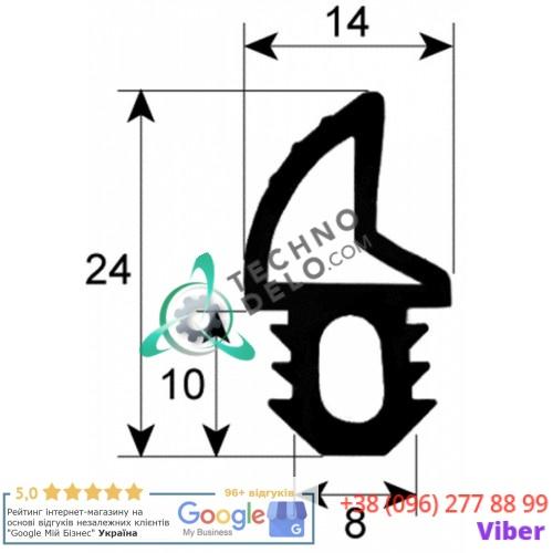 Уплотнитель двери 24x14 mm GUA30002 KGA00002 для печей Piron