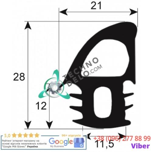 Уплотнитель двери (L2670мм профиль 2695) 189016.09 печи MIWE