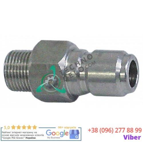 Фитинг соединительный (коннектор) 3/8″ тип DN13 CNS для моющего пистолета