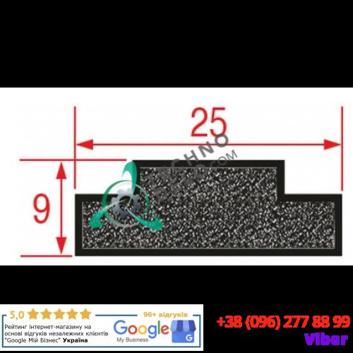 Уплотнитель силиконовый (25x9x3000 мм) 2141701 вакуумного упаковщика Sammic V821SGI100 и др.