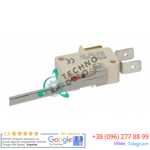 Микровыключатель Electrica NR48W5 (1NO + 1NC 16A 250V) универсальный для оборудования HoReCa и др.