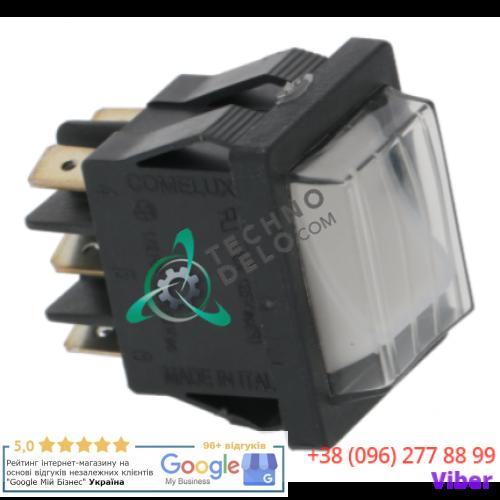 Переключатель (16A 250В 22x30мм) 50GI851144 проф. стиральной машины Grandimpianti R11, WFEC и др.
