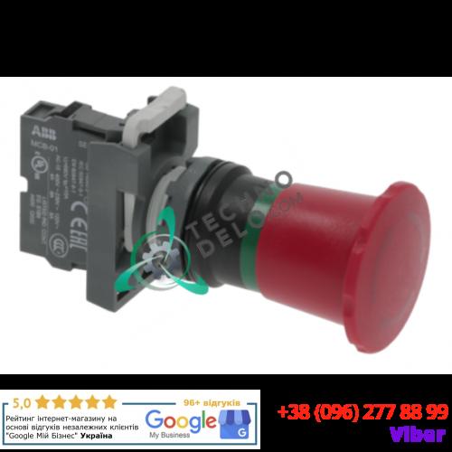 Кнопка красная аварийная ABB (1NC ø40/ø22мм) 2950PULEM248 для оборудования Whirlpool, Imesa и др.