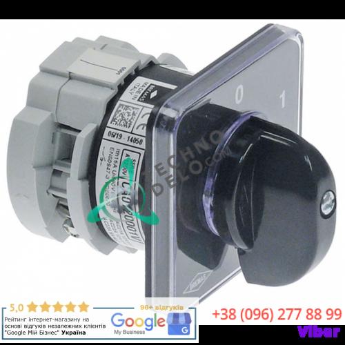 Выключатель Bremas CA0120001 0-1 600В ось 5x5x21мм для Elettrobar и др.