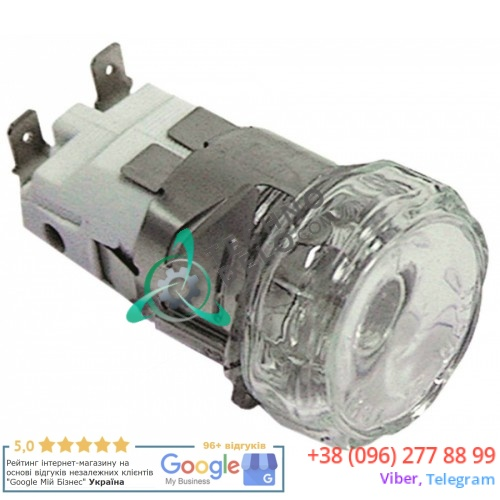 Лампа печи 300°C E14 (монтаж ø 35,5мм/15Вт/230В) термостойкий комплект с лампочкой