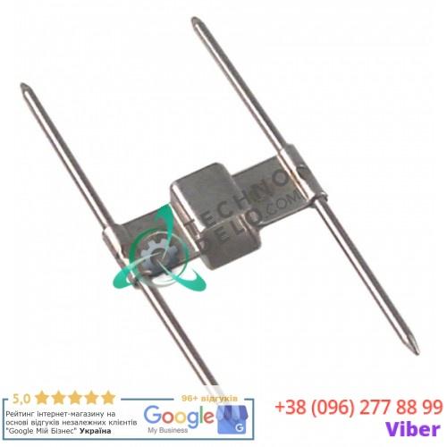 Зажим для шампуров двойной (12x12мм) 7024D001 куриного гриля Cooking-Systems, Eurast, Macfrin и др.