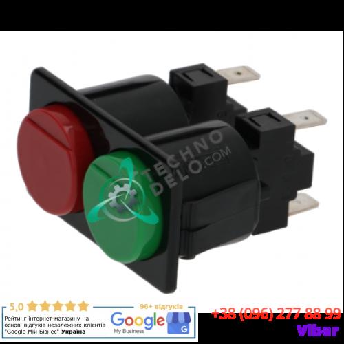 Кнопочная панель (зеленая/красная, 16A 250В) для слайсера Bizerba, OMAS CXMATIC 300 и др.